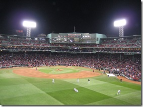 World Series Game 2 from the Green Monster
