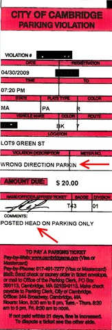 Photo of Wrong Direction Parking