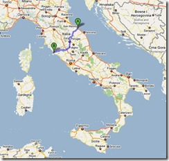 PMC Italy Approx Route