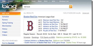 Bing - Red Sox