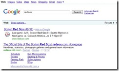 Google - Red Sox