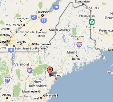 map of maine. owner of Maine Mountain