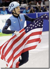 Apolo Ohno - Flag